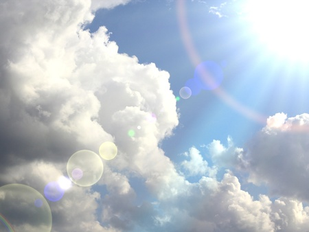 rainbow clouds: rainbow sky Stock Photo