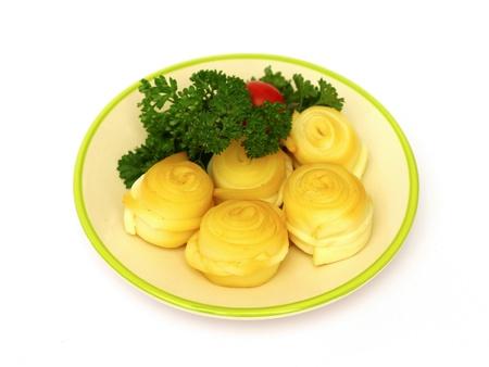 liptov: Slovak traditional smoked cheese Stock Photo