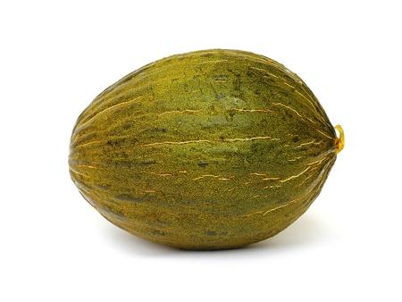 part frog: Piel de sapo melon on white background  Stock Photo