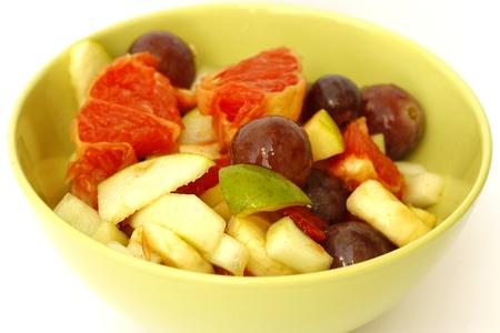 Fruit salad in bowl photo