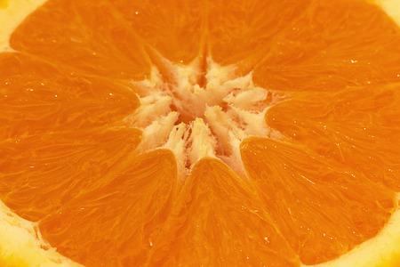 sliced orange: Fresh sliced orange close up Stock Photo