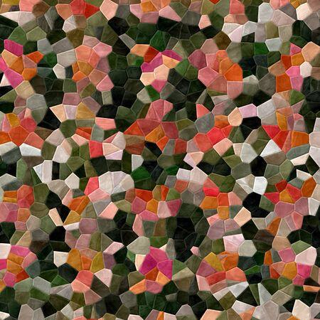 Mosaic decorative texture. Raster version. Stock Photo
