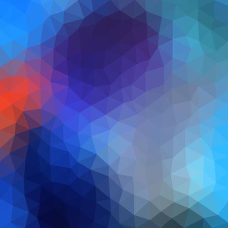 Bassa stile illustrazione poligono. Sfondo astratto geometrica. Raster version.