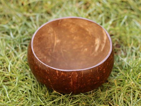 bowl of coconut on the grass