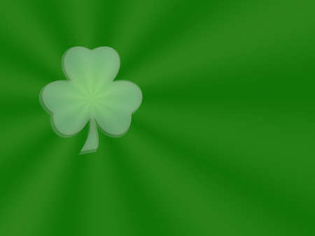Radiant Shamrock Stock Photo