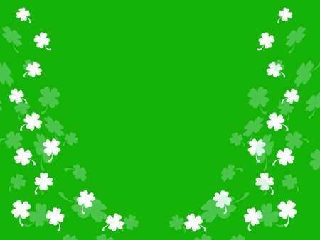 Little shamrocks on green background