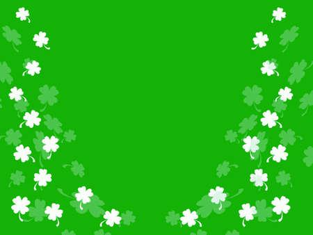 Little shamrocks on green background