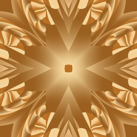 Gold Mandala Stock Photo