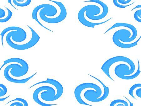 Blue Swirls on White Stock Photo