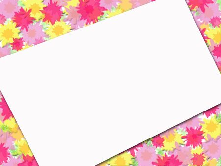 Flowery Note Stock Photo