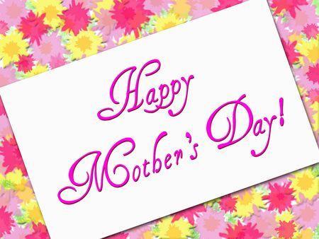 Mothers Day Note Card Stok Fotoğraf