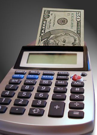 monies: Calculator printing out money