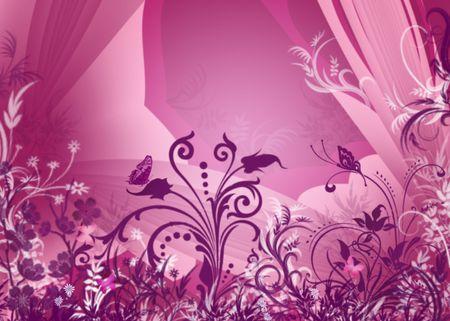 Pink Butterfly Bush Grunge Foto de archivo