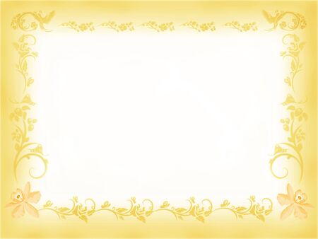 Vintage Floral Border - Antique Gold