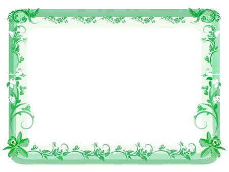 Vintage Floral Frame - Green