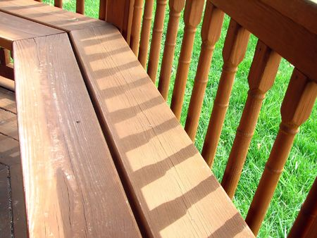 Close-up of wooden bench