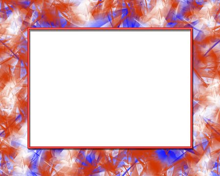 Red white and blue frame