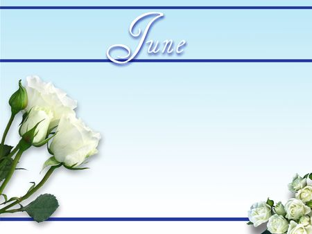 June Day on Gradient Blue Background Stock Photo