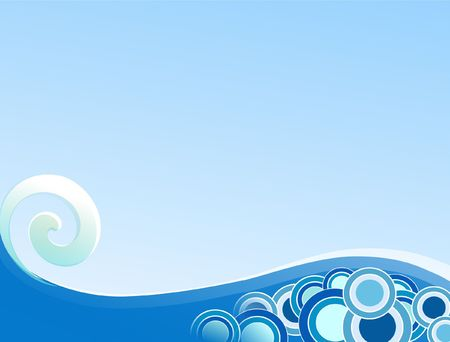 Curling Wave Stock Photo