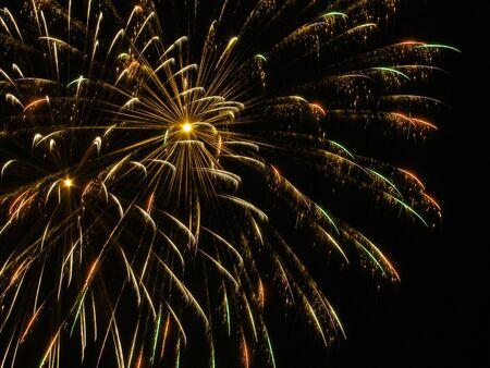 Fireworks exploding full frame