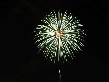 Fireworks exploding - 3/4 frame