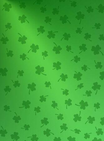 Shamrocks on gradient green background.