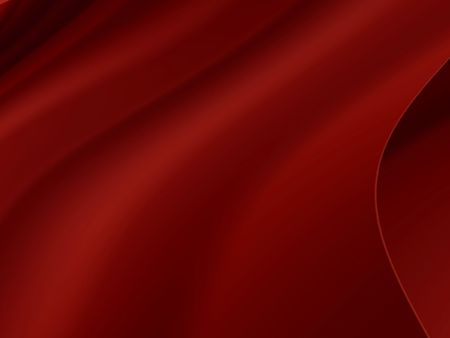 sheen: Illustration of red satin material on dark burgundy background.