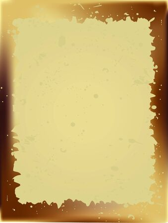 Grungy old parchment border