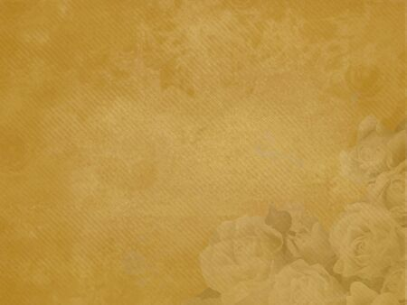 Rose bouquet motif on grungy background