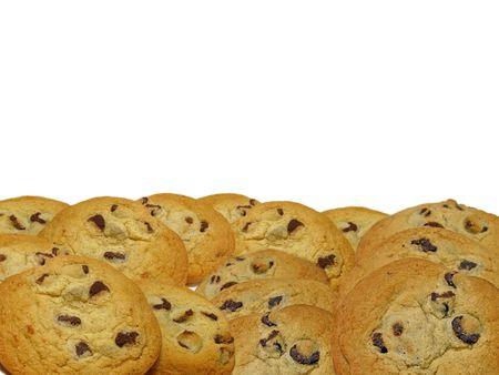 Chocolate chip cookies border  Stock Photo