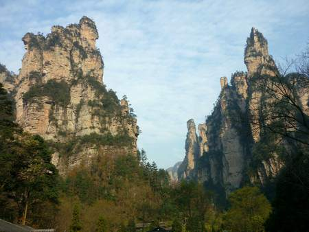 Landscape view of Hallelujah  Avatar mountains against sky in China