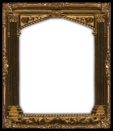 Beautifully carved gold picture frame from the early 19th century photo