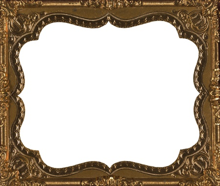 Vintage old gold frame from 1850 s photo