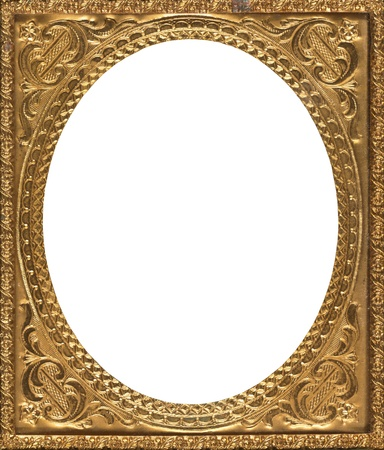 Oval shaped antique gold frame mid 19th century photo