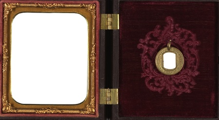 Wallet -Antique gold  frame circa mid 19th century photo