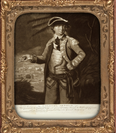 commanded: Colonel Arnold - who commanded the provincial troops sent against Quebec, through the wilderness of Canada, and was wounded in storming that city, under General Montgomery Date Created Published  London   Published by Thos  Hart, 1776 March 26