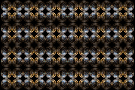 mirrorball: Mirrorball pattern design isolated on a black background.