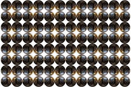 mirrorball: Mirrorball pattern design isolated on a white background. Stock Photo