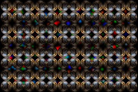 mirrorball: Mirrorball pattern design isolated with blur background. Stock Photo