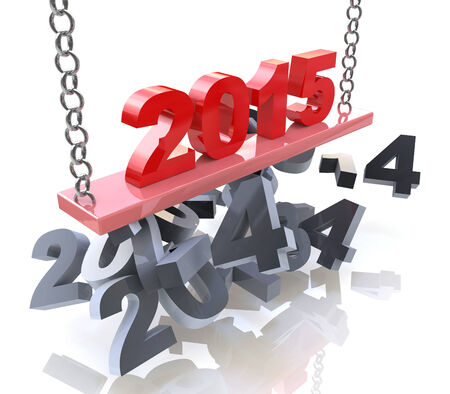 New Year 2015 in the design of the information related to the New Year and holiday photo