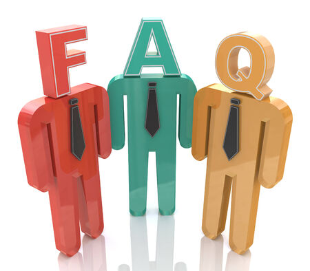 frequently asked question: 3d people thinking about frequently asked questions. FAQ in the design of the information related to the Frequently Asked Question