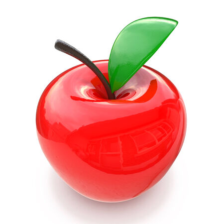 flaring: red glass apple