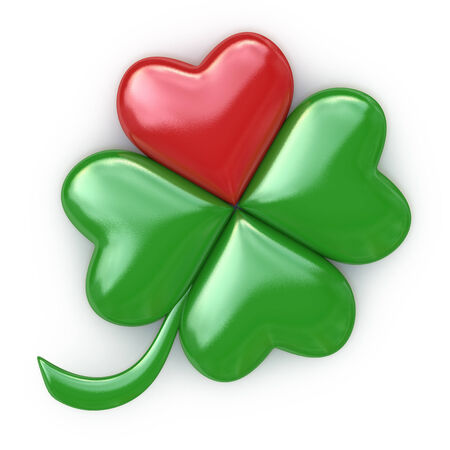 lucky red, green heart Clover photo