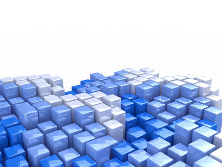 hi tech background: abstract image of cubes background in blue toned