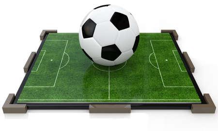 ball on the football field