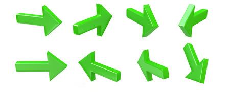 3d green arrow icon set photo
