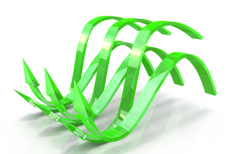 latent: Green wavy arrows, concept of the latent potential