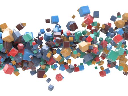 MultiColored cubes Abstract Background photo