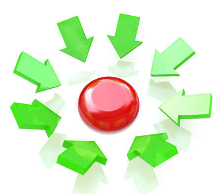 red button and green arrows photo