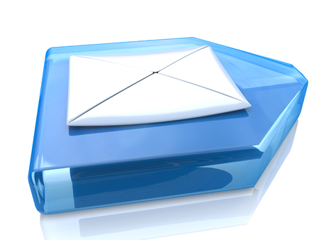 Mail Envelope and blue arrow photo